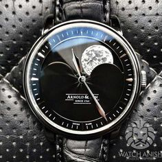 Wow! Arnold and Son HMS Perpetual Moon. One of the biggest moons on a watch I have seen.
