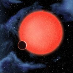 GJ1214b, shown in this artist%u2019s view, is a super-Earth orbiting a red dwarf star 40 light-years from Earth. New observations from the NASA/ESA Hubble Space Telescope show that it is a waterworld enshrouded by a thick, steamy atmosphere. GJ 1214b represents a new type of planet, like nothing seen in the Solar System or any other planetary system currently known.