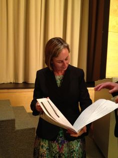 State Rep. Barbara L'Italien, Chair of the Massachusetts Autism Commission  reading a