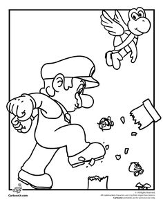 coloriage mario | coloriages | Pinterest