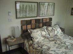 the Lucky Dumpster: furniture. Rectangular wooden blocks background