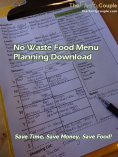 I love this idea for a no-food-wasted menu planner!  There are sections to write in what you want to use that week from your pantry, freezer, & fridge!  It doesn't matter if you're a couponer or not, this menu planner will definitely save you money!  Via /thriftycas/