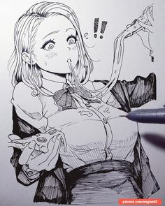 Traditional quickie sketch by Anime Drawings Sketches, Anime Sketch, Manga Drawing, Manga Art, Sketch Drawing, Manga Anime, Doodle Sketch, Character Drawing, Character Design