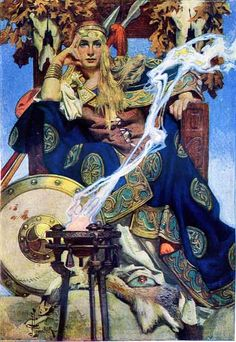 Queen Mebh Art And Illustration, Illustrations, Fortes Fortuna Adiuvat, Jc Leyendecker, Art Magique, Irish Mythology, Arte Pop, Gods And Goddesses, Fantasy Art