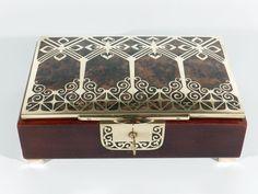 ERHARD & SÖHNE Jugendstil Art Nouveau Intarsien Kassette ° Schmuckkassette