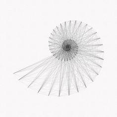 Fibonacci spirals - exploring the Fibonacci numbers in a series of illustrations : Studio Fredrik Skåtar Geometric Inspiration Mandala Avant Bras, Sacred Geometry Tattoo, Geometry Pattern, Math Art, Flower Of Life, Geometric Shapes, Illustration, Artwork, Alex Grey