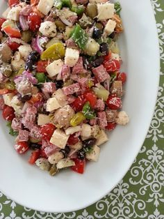 Antipasto Salad.  All recipe credit given to Ross Sveback's blog.