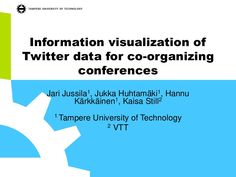 Information visualization of Twitter data for co-organizing conferences -presentation in Mindtrek 2013 conference, 3 October, Tampere, Finland. CMAD2013 as case study.