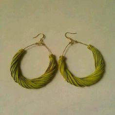 Handmade leather earrings   Old Tires - New Life   Pinterest
