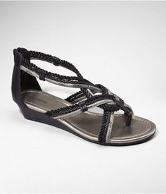 Express Braided Metallic Thong Wedge Sandal that is no longer available :(