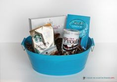 5 Creative Gift Baskets: Any coffee lover would LOVE to receive a basket filled with coffee and things to dip in it!
