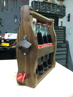 I made a decorative/functional Coca Cola bottle carrier! - Imgur