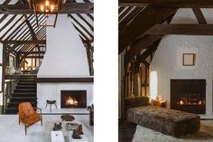 Inside Ariana Grande's Montecito House – DIRT Style Tudor, Tudor Style Homes, Ariana Grande House, Jardin Luxuriant, Ellen Degeneres And Portia, House Shifting, Natural Wood Table, Classic House Design, Large Laundry Rooms
