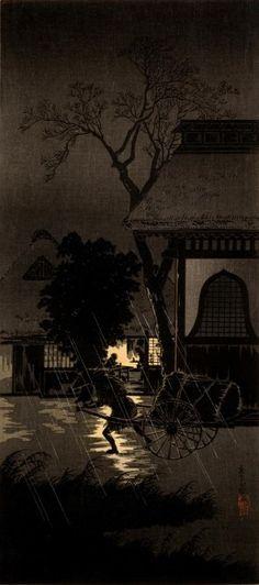 夜が夜以上に夜っぽい!シルエットを効果的に使った明治の浮世絵師「高橋松亭」の作品がステキ – Japaaan 日本の文化と今をつなぐ