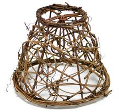 Open Weave Grapevine Twig Lamp Shade