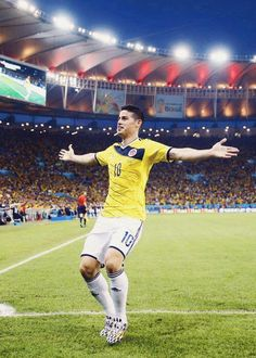 Man of the Match: James Rodriguez. 5 goals in 4 games. Talent for Columbia Vs Uruguay FIFA 2014 World Cup Brazil Mls Soccer, Soccer Guys, Good Soccer Players, Soccer Stars, Football Soccer, Football Players, Football Icon, James Rodriguez Colombia, James Rodriguez 2014