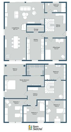 Floor plans are essential for real estate listings. With RoomSketcher, you can create beautiful 2D Floor Plans quickly and easily. See how: https://www.roomsketcher.com/real-estate/  #floorplans #2dfloorplans #propertyphotography #floorplan #blueprint #realestatemarketing #realestatephotography #propertyforsale