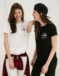 Camiseta BSK 'Best Friend' - Camisetas - Bershka España