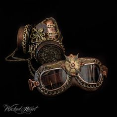 Hey, I found this really awesome Etsy listing at https://www.etsy.com/listing/217666654/steampunk-goggle-and-respirator-set-made