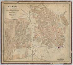 Békéscsaba megyei város belterületének átnézeti térképe [BéML XV 1 a 17] | Térképek | Hungaricana City Maps, A 17, Vintage World Maps