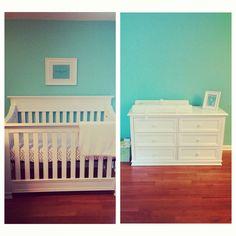 Baby's Tiffany blue nursery <3