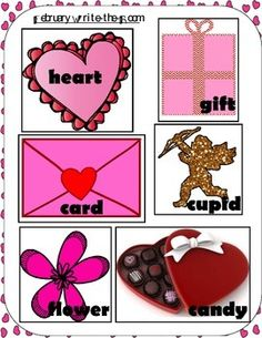 This Free February Write the Room by Kinder Gardening by A Scrivner is intended to cover ELA CCSS: RF.K.1b, RF.K.3a, L.K.1a.  Students will practice reading and writing February Valentine words during literacy and/or reading centers.  This product is intended to give you an idea of the general quality of my work.