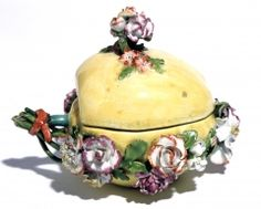 Apple Tureen and Cover, c.1753-58  Soft paste porcelain, coloured enamels  English, Chelsea. c.1756