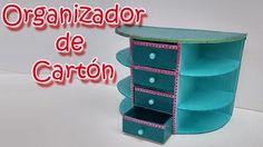 Organizador de cartón para tener ordenado el escritorio
