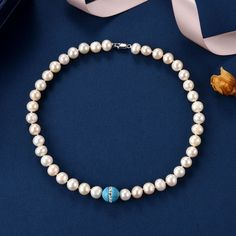 Pink Cultured Pearls with Turquoise Bead Necklace Wholesale jewelry,beads - Pearls,coral,gemstone,turquoise jewelry Mens Sterling Silver Necklace, Sterling Jewelry, Pearl Jewelry, Beaded Jewelry, Silver Jewelry, Beaded Necklace, Jewellery, Multi Strand Pearl Necklace, Cultured Pearl Necklace