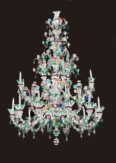 An exceptionally large and very fine Venetian chandeleer, circa 1890. | From a unique collection of antique and modern chandeliers and pendants  at http://www.1stdibs.com/furniture/lighting/chandeliers-pendant-lights/