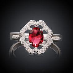 Finger Ring, Brass, with Flower