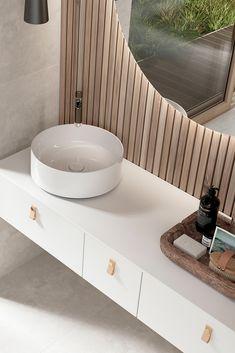 INR AIR baderomsinnredning i naturlig harmoni - Lilly is Love Spa Interior, Bathroom Interior Design, Wet Rooms, Cool Rooms, Beautiful Bathrooms, Modern Bathroom, Wall Hung Vanity, Bathroom Design Inspiration, Vanity Units