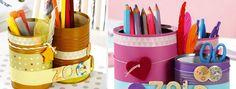 Pots à crayons et boîtes de conserves avec Wesco Family