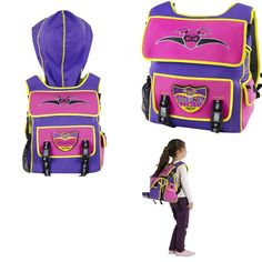 Bubblicious Hoodie Backpack - superhero hoodie bakcpack for girls- This stylish backpack keeps kids looking cool at all times.With a built-in hood it's also the coolest way to stay dry in the rain, because superheroes can't be bothered with umbrellas! Simply pull the hidden hood out of a pocket at the top of the backpack and go under cover. The backpacks are made from environmentally friendly, insulating EVA to keep snacks & drinks fresh.