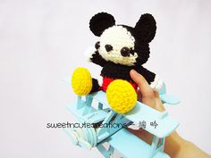 Baby Mickey Mouse amigurumi pattern by Sweet N' Cute Creations