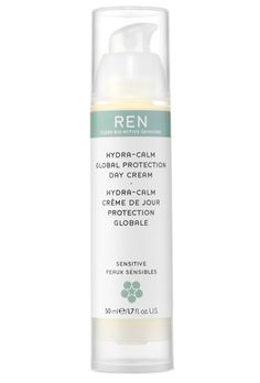 I love the REN Skincare Hydra-Calm Global Protection Day Cream. Full of great ingredients & free from skin-unfriendly ingredients including: Synthetic fragrance, pore-blocking petrochemicals, sulfate detergents, synthetic colours, animal ingredients and parabens.