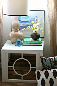 10 Interesting IKEA Nightstand Designs: 10 Interesting IKEA Nightstand Designs With White Nightstand And Desk Lamo And Small Flower Vase