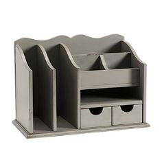 Original Home Office™ Desk Organizer - Medium. How fun would this be painted a bright lime green!?