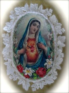 Blessed Virgin Mary Religious Pictures, Religious Icons, Religious Art, Divine Mother, Mother Mary, Christian Artwork, Religion Catolica, Queen Of Heaven, Blessed Virgin Mary