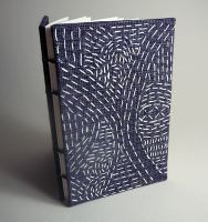 Sashiko-Inspired Book Covers - sewing on paper or bookcloth tutorial by Alisa Golden