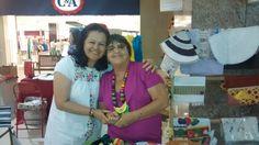 Néa Gusmão e Catarina no Shoping Conquista Sul.