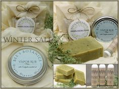 Cold Relief Winter Sale - Vapor Rub, Menthol Inhaler Stick, Peppermint Soap, and Eucalyptus Facial Steam Bath - Steep Savings! by BeesBotanics on Etsy