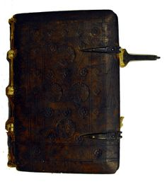 Front cover of binding from Guilelmus Alvernus: Rhetorica divina. Late15th /16th century.
