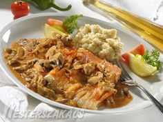 Fish Recipes, My Recipes, Hungarian Recipes, Hungarian Food, Cordon Bleu, Ricotta, Curry, Dishes, Chicken