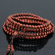 [USD19.07] [EUR17.79] [GBP14.03] India Lobular Red Sandalwood Beads Along The Grain Bracelets (Specification: The grain)