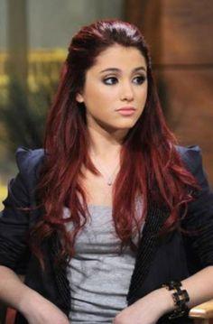Ariana Grande-- I think I want this hair color...