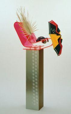 Isa Genzken – Kindershirm 2004 (Plastic, metal, wood, palm leaf, fabric)