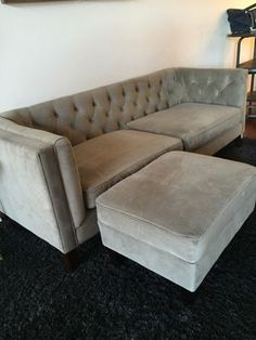 World market Kendall sofa and ottoman