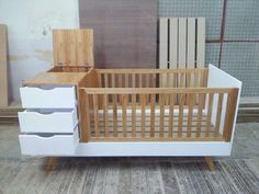 Baby Basinets, Baby Crib Diy, Baby Bedroom, Baby Room Decor, Nursery Room, Diy Furniture Easy, Baby Furniture, Crib And Changing Table Combo, Unique Baby Cribs