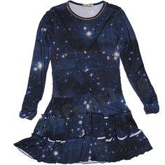 Carbone bequemes Kleid mit Volants Blau